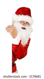 santa claus on white with path