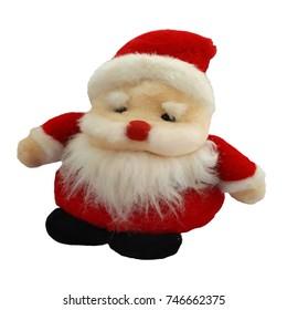 Santa Claus on the white scene