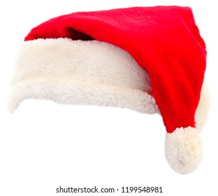 Santa Claus red hat isolated on white background.