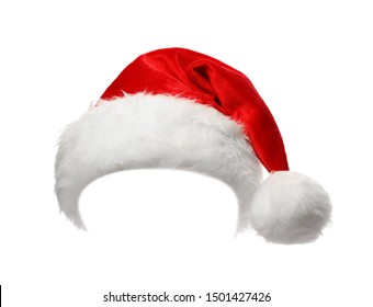 Santa Claus red hat isolated on white - Shutterstock ID 1501427426