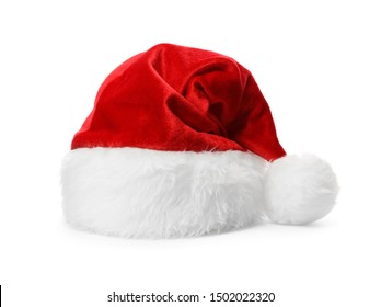Santa Claus red hat isolated on white - Shutterstock ID 1502022320