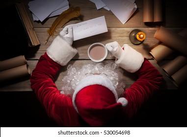 Santa Reading Letter Hd Stock Images Shutterstock