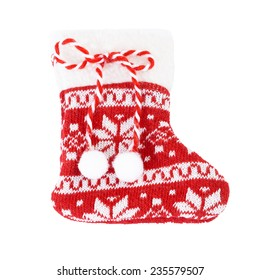 Santa Claus Sock isolated on white