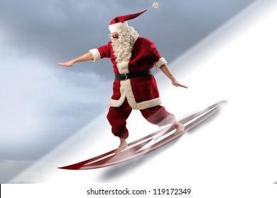 Santa Claus Surfer
