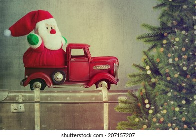 Santa claus in truck