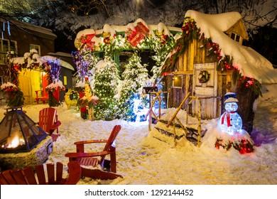 Santa Claus village in Quebec, Canada