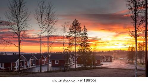 Santa Claus Village. Rovaniemi, Finland, Arctic Circle. 7.10.2015