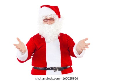 Santa Claus welcomes all nice children