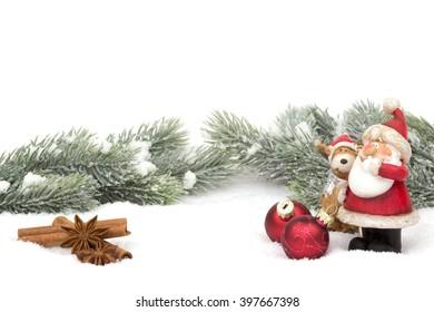 santa claus winter decoration