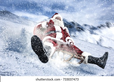 santa claus and winter sport