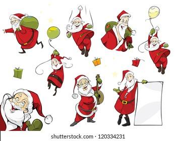 Santa Claus xmas  set