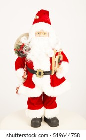 santa clause ,christmas ,winter, white, background, red ,eyes , blue , bag , back ,ornaments ,xmas ,presents ,gifts ,good ,man ,friend, decoration