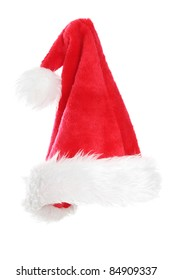 Santa clause hat , isolated on white