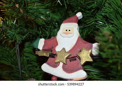 Santa clause on tree