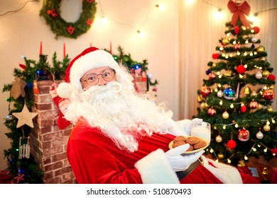 Santa With Cookies Stock Photos Images Photography Shutterstock