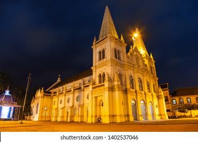 Santa Cruz Basilica or Roman Catholic Diocese of Cochin church located in Fort Kochi in Cochin, India