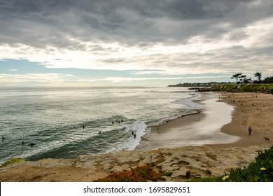 Santa Cruz beach at sunset, California