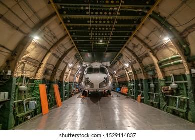 Santa Cruz, Bolivia - September 7th, 2019 - A chinook CH47 aircraft in the Antonov.