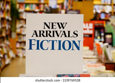 Santa Cruz California USA October 7, 2019 New books for sale in my local book store