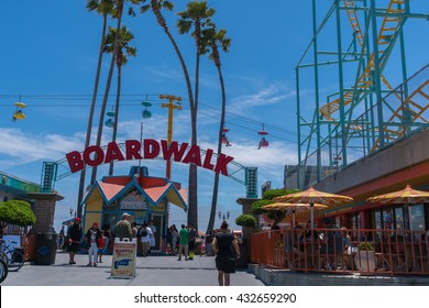 SANTA CRUZ, CA/USA - JUNE 5: Santa Cruz beach boardwalk in California on June 5, 2016.