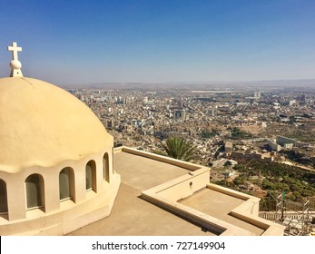 Santa Cruz chapel at the high hill of Oran city Algeria