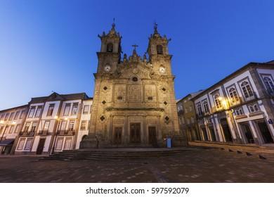 Santa Cruz Church in Braga at dawn. Braga, Norte Region, Portugal.