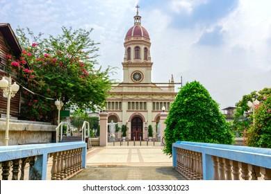 Santa Cruz Church is a Roman Catholic church in Bangkok. It is located in Thon Buri District on the west bank of Chao Phraya River, in the neighbourhood known as Kudi Chin.