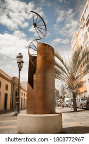 Santa Cruz de Tenerife, Tenerife / Spain - Circa July 2020: bronze monument in the town centre
