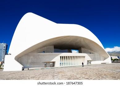 SANTA CRUZ DE TENERIFE, SPAIN - MARCH 17: Auditorio de Tenerife on March 17, 2014 in Santa Cruz de Tenerife, Canary Islands, Spain. This auditorium was designed by famous architect Santiago Calatrava
