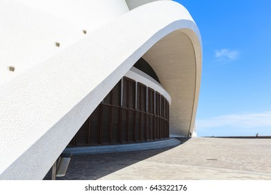 Santa Cruz de Tenerife, Spain - May 03, 2012: Auditorio de Tenerife - futuristic and inspired in organic shapes, building designed by Santiago Calatrava
