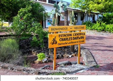 SANTA CRUZ, ECUADOR -APRIL 23: Charles Darwin Research Station on Santa Cruz Island on April 23, 2015 in Galapagos, Ecuador. Station is used to conduct scientific research