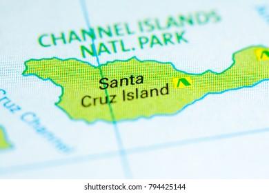Santa Cruz Map Stock Images RoyaltyFree Images Vectors