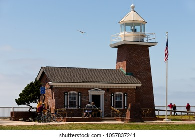 Santa Cruz, USA - May 2, 2015: View of thr Santa Cruz Lighthouse