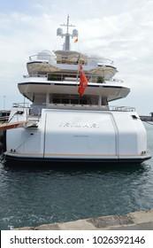 Santa Cruz,Tenerife,Spain,15-02-2017: luxury yachts,