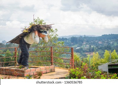 Santa Elena, Antioquia / Colombia November 6, 2016. Monument to the silleteros of Antioquia, Colombia