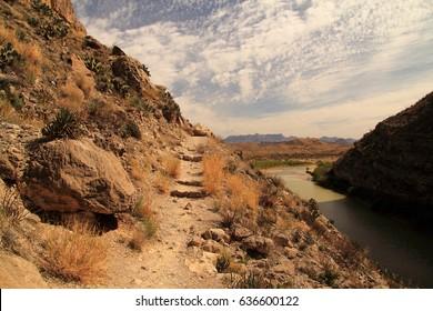 Santa Elena Canyon Trail in Big Bend National Park, Texas