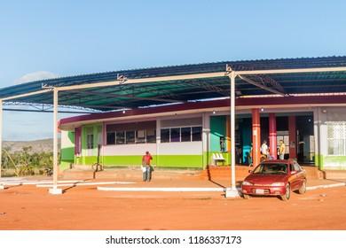 SANTA ELENA DE UAIREN, VENEZUELA - AUGUST 14, 2015: Bus station in Santa Elena town. Santa Elena is home to many travel agencies offering tours to Canaima National Park.