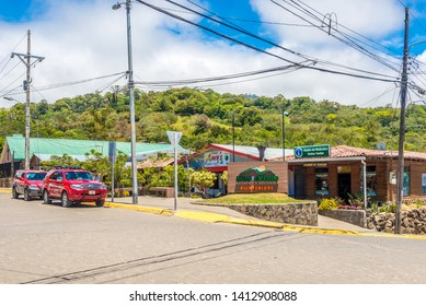 SANTA ELENA,COSTA RICA - MARCH 21,2019 - In the streets of Santa Elena of Monteverde. Monteverde was deemed one of the Seven Natural Wonders of Costa Rica.