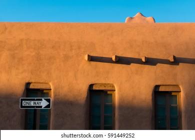 Santa Fe adobe building