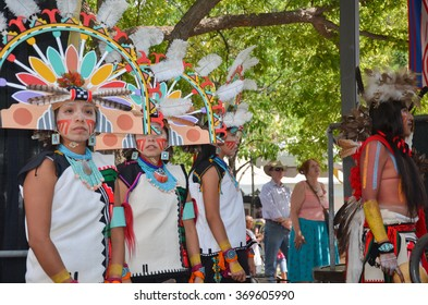 SANTA FE - AUGUST 20:  Santa Fe Indian Market 2012 on the Plaza featuring the Hopi Tribe Dancers downtown Santa Fe, New Mexico
