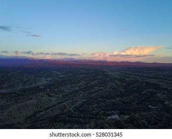Santa Fe New Mexico Desert Skies Autumn Sunset