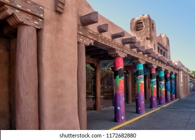 Santa Fe, New Mexico, USA. downtown architecture