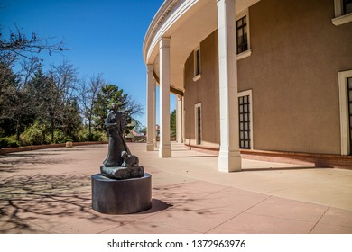 Santa Fe, NM, USA - April 14, 2018: The Great Seal of the State of New Mexico