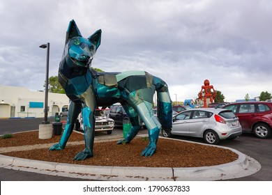 Santa Fe, NM / USA - July 5, 2016: Meow Wolf Art Collective Public Art.