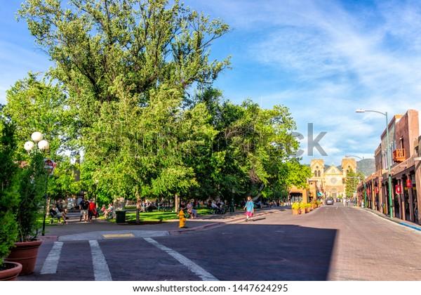 Old Town Santa Fe >> Santa Fe Usa June 14 2019 Stock Photo Edit Now 1447624295