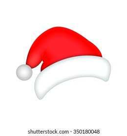 Santa Hat / Santa Claus red hat isolated on white background / cap / hat