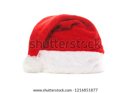 5fa5d88ec86 Santa hat isolated on white background. Happy xmas hollidays. Santa hat at  studio. Christmas