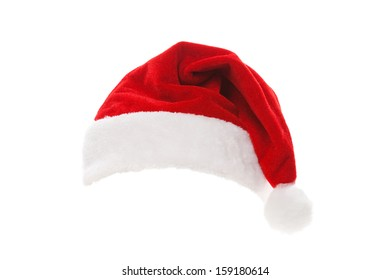 Santa Claus Red Hat Isolated On Stock Photo (Edit Now) 352988132 ... 39c0f1257025