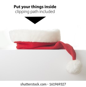 Santa hat with place for your things