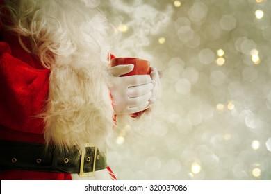 Santa Holding Hot Mug